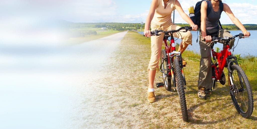 Fahrrad Banner Tablet