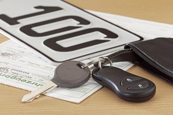 Autoschlüssel Autokennzeichen