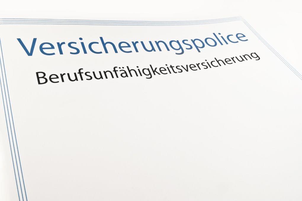 Berufsunfähigkeitsversicherung Police