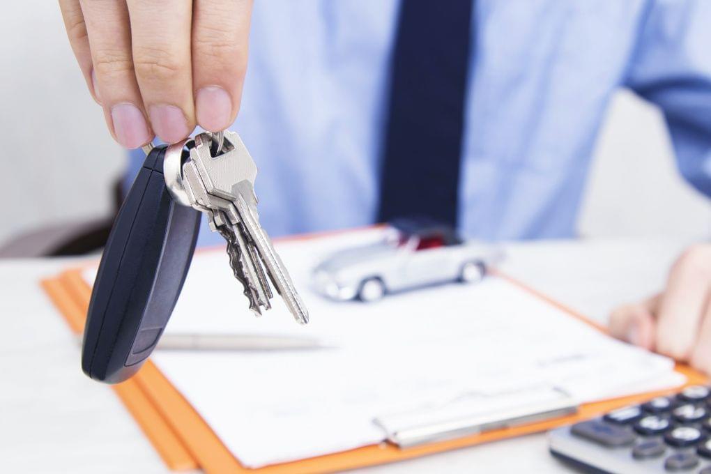 Autoschlüssel übergabe