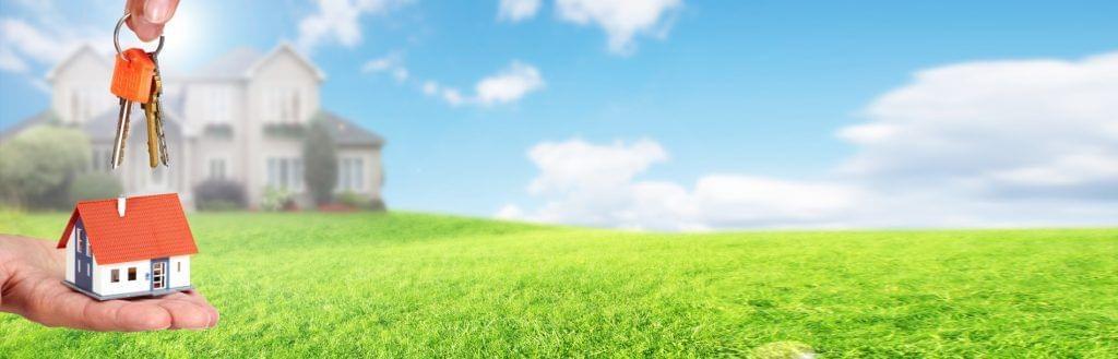 Hausübergabe grüne Wiese